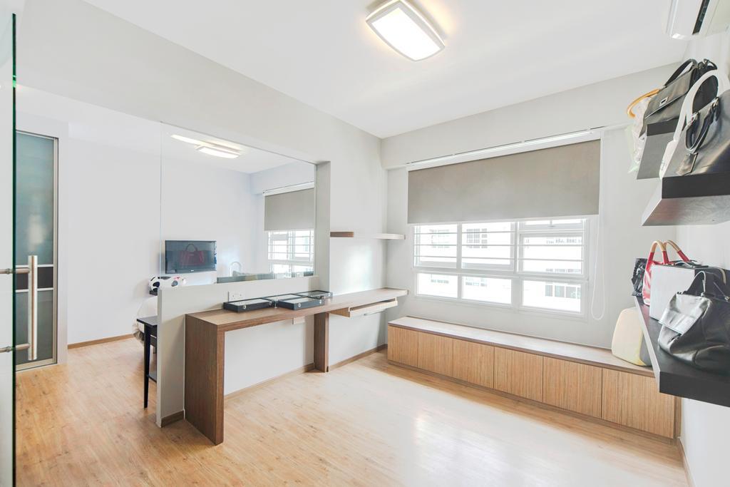 Modern, HDB, Punggol Drive, Interior Designer, Cozy Ideas Interior Design, Desk, Furniture, Table, Indoors, Interior Design