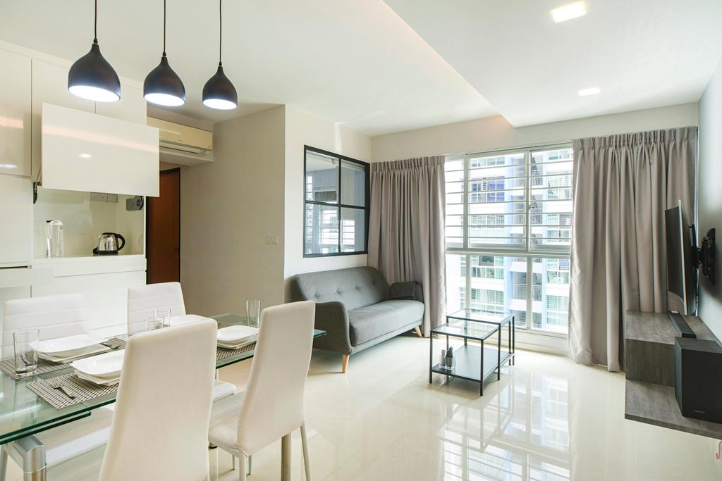 Modern, HDB, Living Room, Punggol Drive, Interior Designer, Cozy Ideas Interior Design, Chair, Furniture, Light Fixture, Dining Room, Indoors, Interior Design, Room, Lighting
