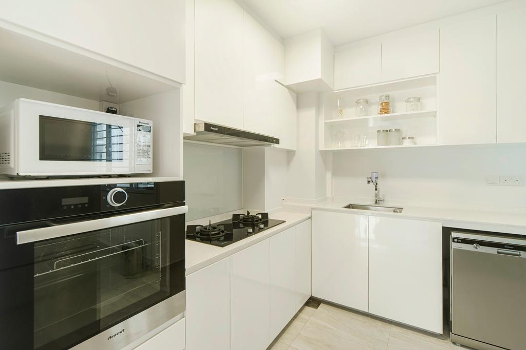 Modern, HDB, Kitchen, Punggol Drive, Interior Designer, Cozy Ideas Interior Design, Appliance, Electrical Device, Microwave, Oven, Indoors, Interior Design, Room