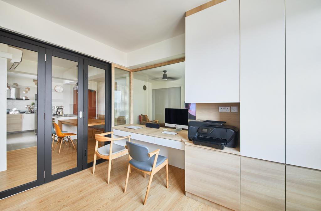 Scandinavian, HDB, Study, Ang Mo Kio, Interior Designer, The Local INN.terior 新家室