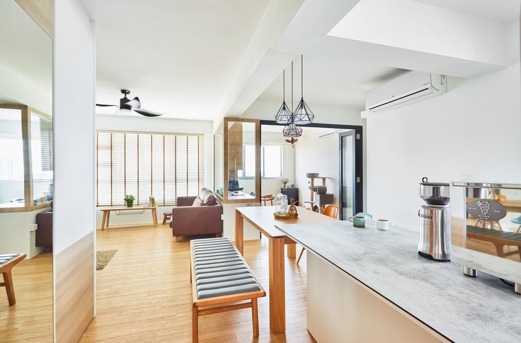Scandinavian, HDB, Kitchen, Ang Mo Kio, Interior Designer, The Local INN.terior 新家室