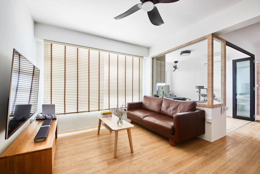 Scandinavian, HDB, Living Room, Ang Mo Kio, Interior Designer, The Local INN.terior 新家室