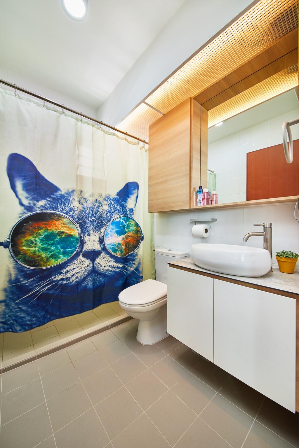 Scandinavian, HDB, Bathroom, Ang Mo Kio, Interior Designer, The Local INN.terior 新家室