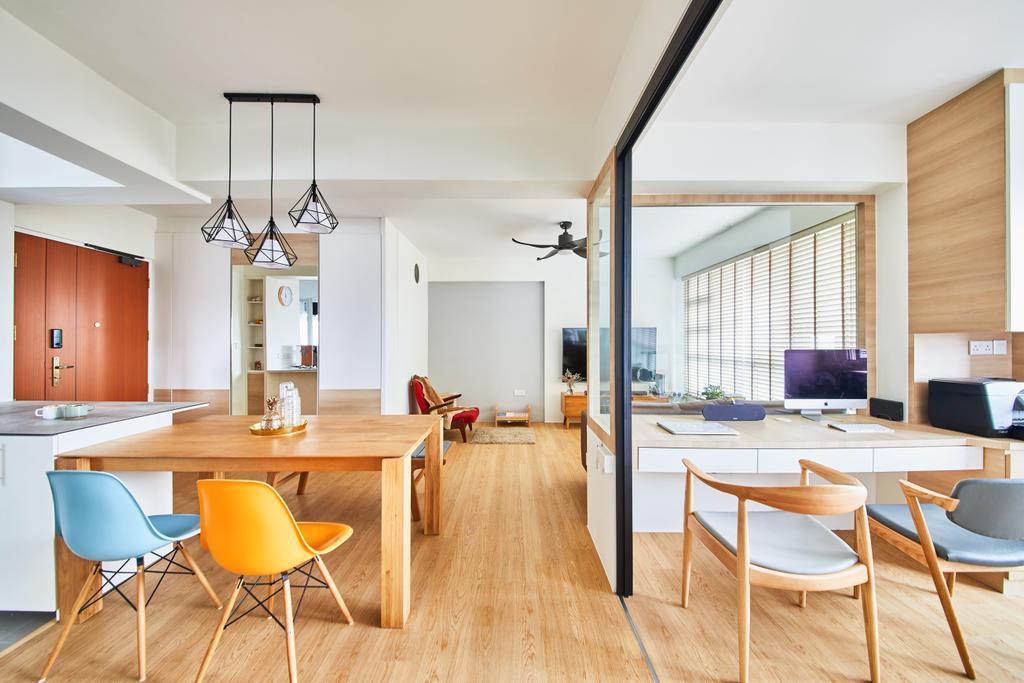 Scandinavian, HDB, Dining Room, Ang Mo Kio, Interior Designer, The Local INN.terior 新家室