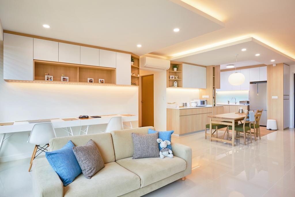 Scandinavian, HDB, Living Room, Bukit Batok, Interior Designer, The Local INN.terior 新家室
