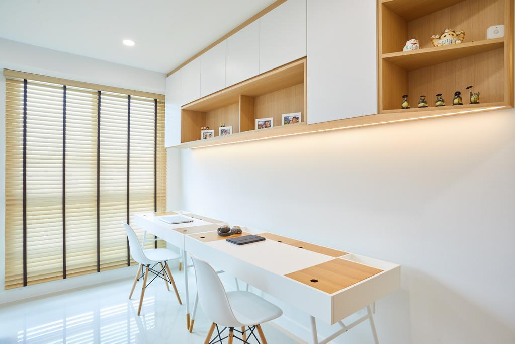 Scandinavian, HDB, Study, Bukit Batok, Interior Designer, The Local INN.terior 新家室