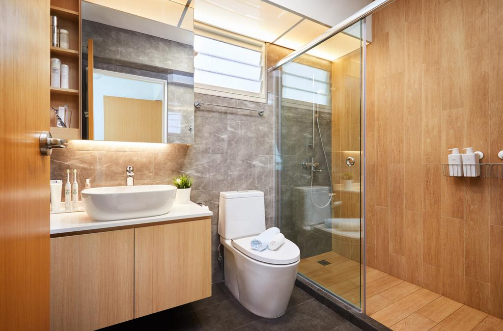 Scandinavian, HDB, Bathroom, Bukit Batok, Interior Designer, The Local INN.terior 新家室