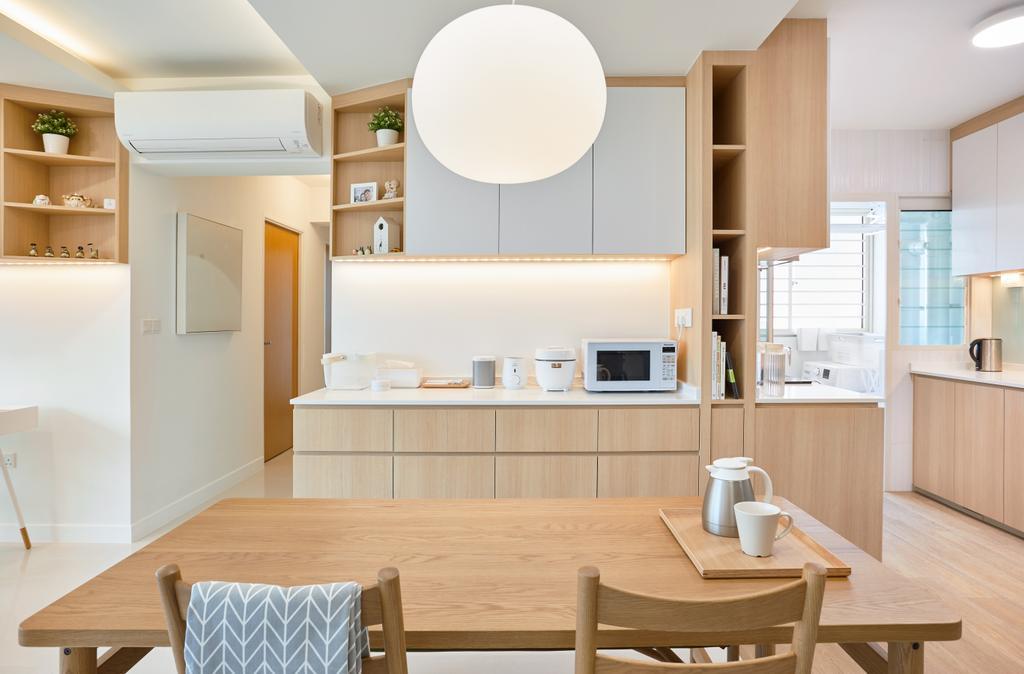 Scandinavian, HDB, Dining Room, Bukit Batok, Interior Designer, The Local INN.terior 新家室