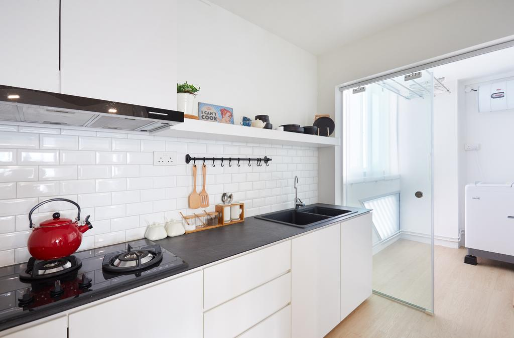 Scandinavian, HDB, Kitchen, Cambridge Road, Interior Designer, The Local INN.terior 新家室