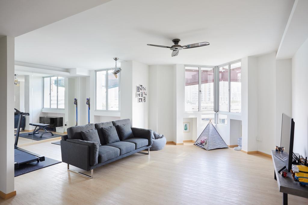 Scandinavian, HDB, Living Room, Cambridge Road, Interior Designer, The Local INN.terior 新家室