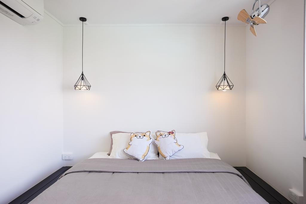 Scandinavian, HDB, Bedroom, Cambridge Road, Interior Designer, The Local INN.terior 新家室