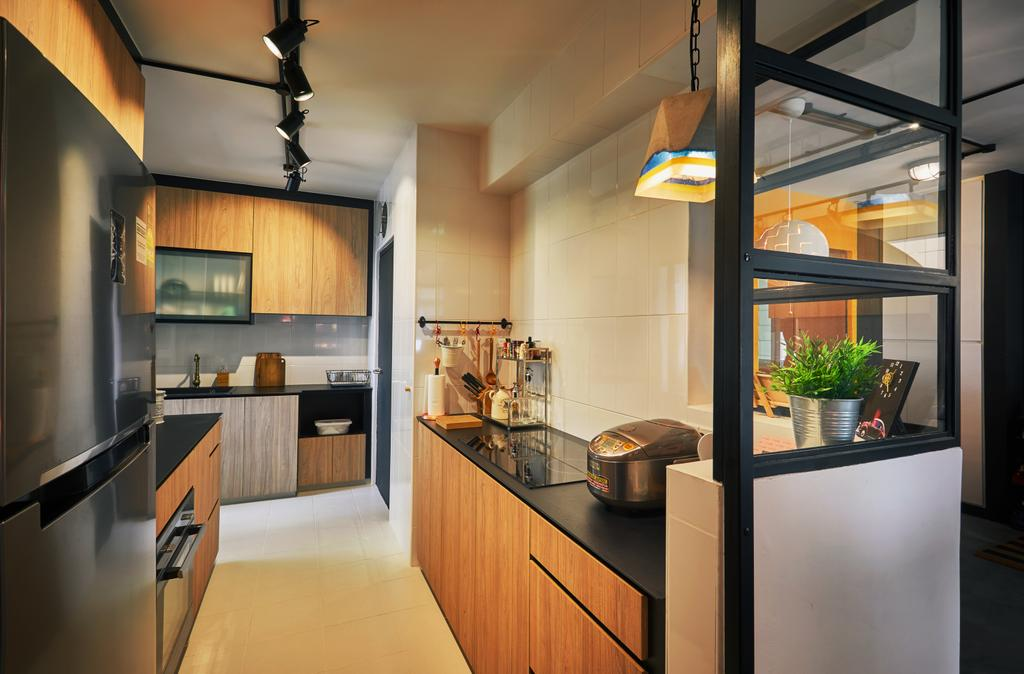 Eclectic, HDB, Kitchen, Clementi, Interior Designer, The Local INN.terior 新家室, Industrial