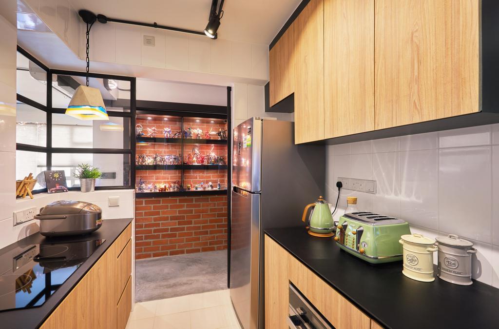 Eclectic, HDB, Kitchen, Clementi, Interior Designer, The Local INN.terior 新家室, Industrial