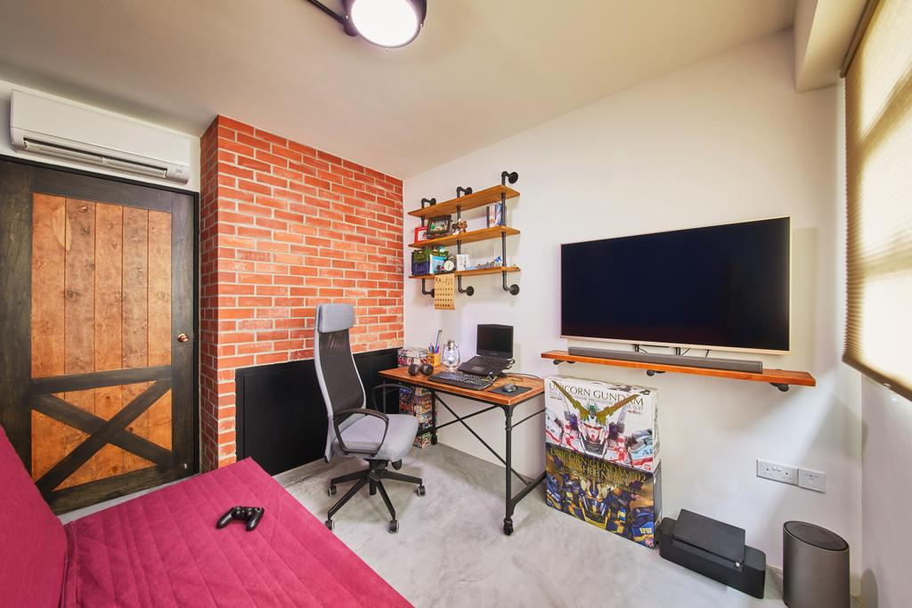 Eclectic, HDB, Study, Clementi, Interior Designer, The Local INN.terior 新家室, Industrial