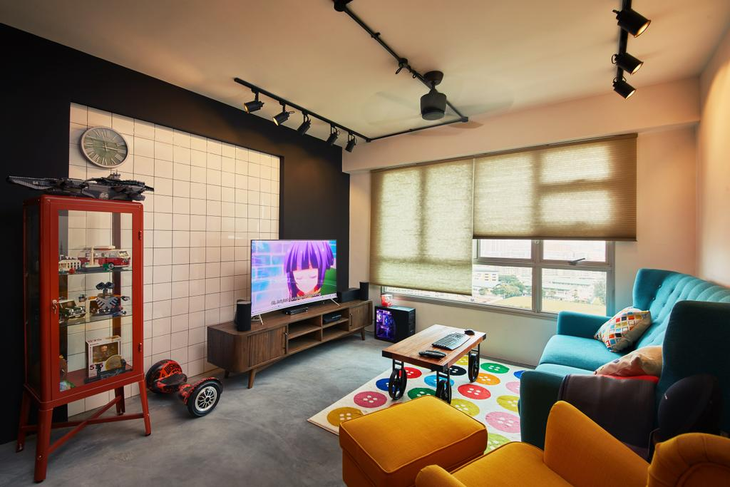 Eclectic, HDB, Living Room, Clementi, Interior Designer, The Local INN.terior 新家室, Industrial