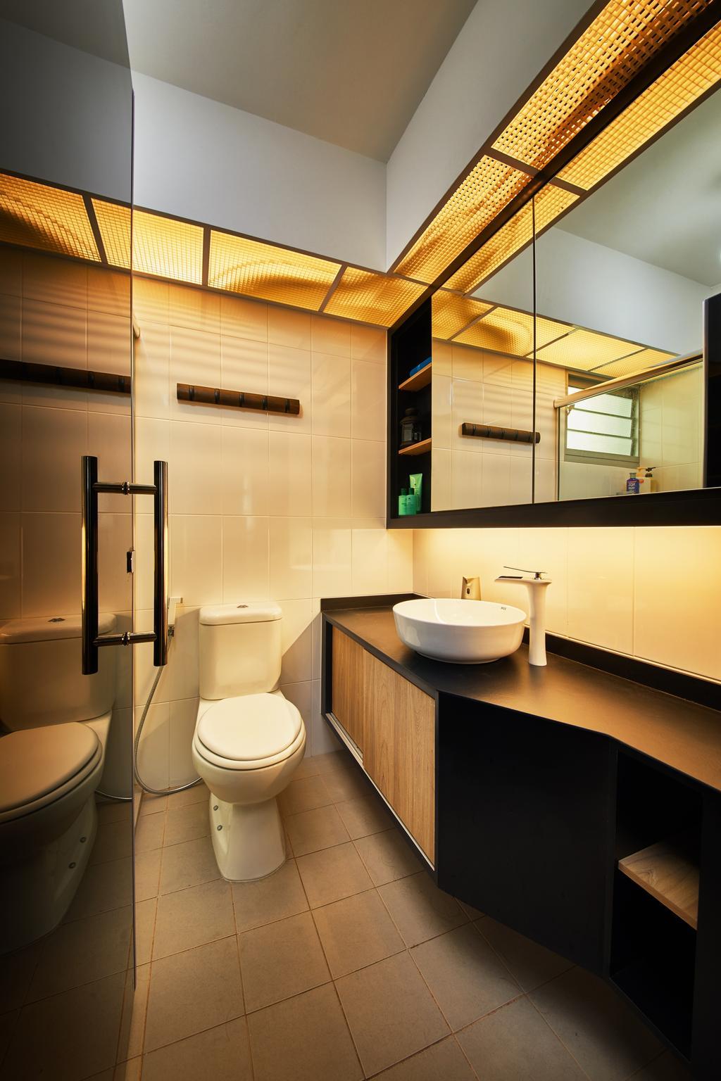 Eclectic, HDB, Bathroom, Clementi, Interior Designer, The Local INN.terior 新家室, Industrial