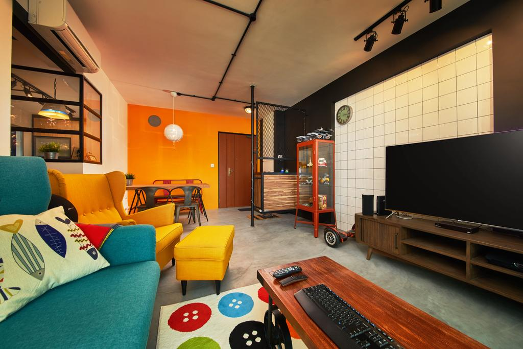 Eclectic, HDB, Living Room, Clementi, Interior Designer, The Local INN.terior 新家室, Industrial