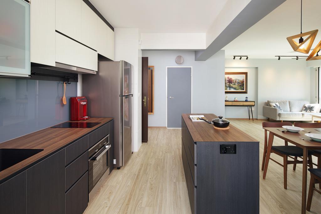 Contemporary, HDB, Kitchen, Mcnair Road, Interior Designer, The Local INN.terior 新家室