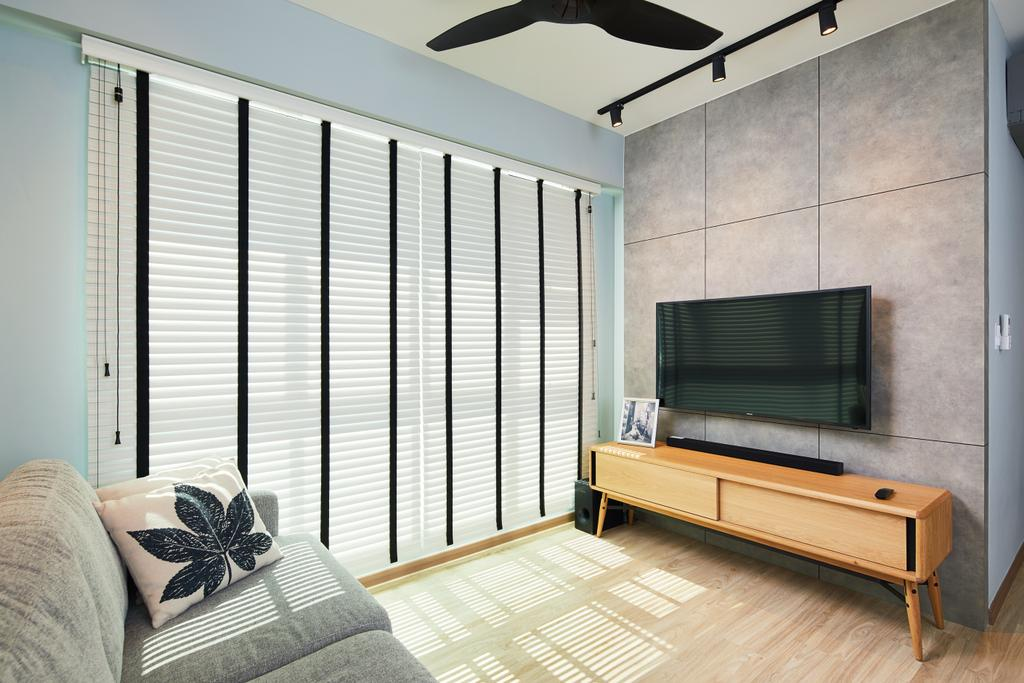 Contemporary, HDB, Living Room, Mcnair Road, Interior Designer, The Local INN.terior 新家室