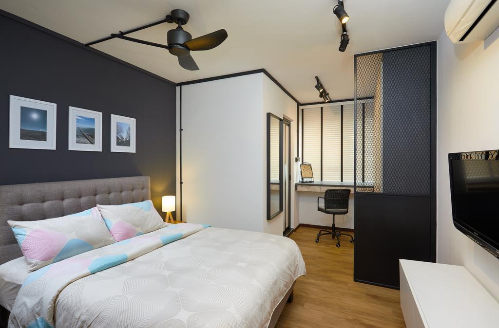 Industrial, HDB, Bedroom, Pasir Ris, Interior Designer, The Local INN.terior 新家室, Contemporary