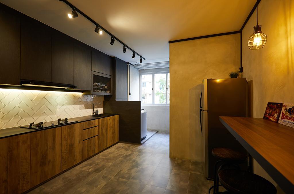 Industrial, HDB, Kitchen, Pasir Ris, Interior Designer, The Local INN.terior 新家室, Contemporary