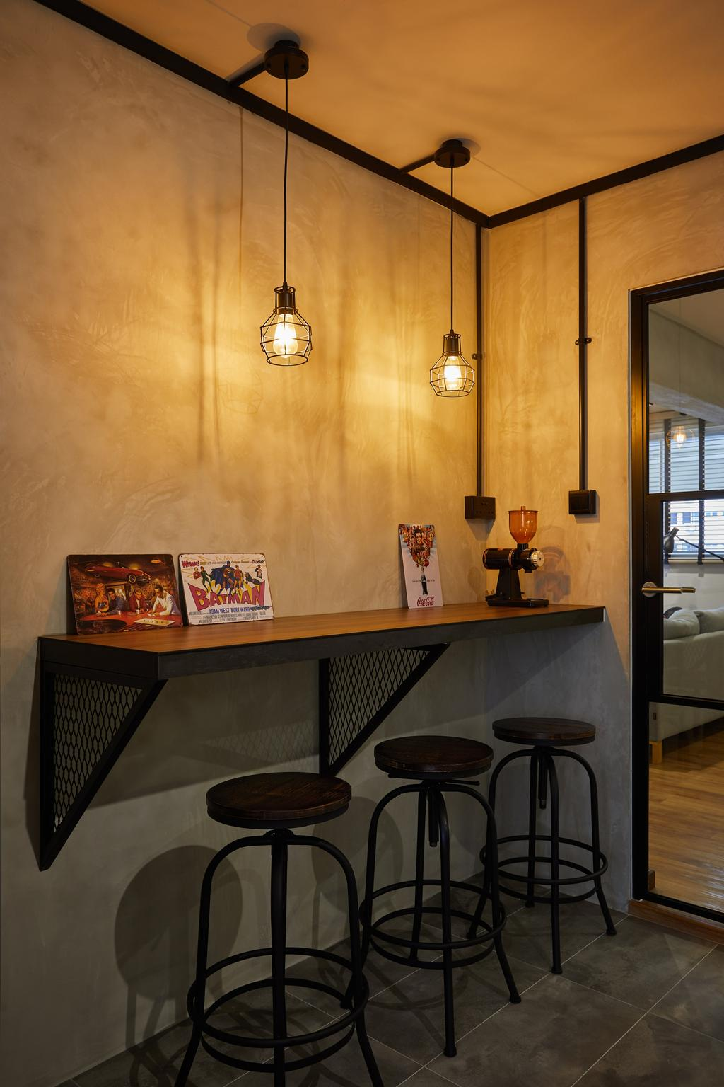 Industrial, HDB, Pasir Ris, Interior Designer, The Local INN.terior 新家室, Contemporary