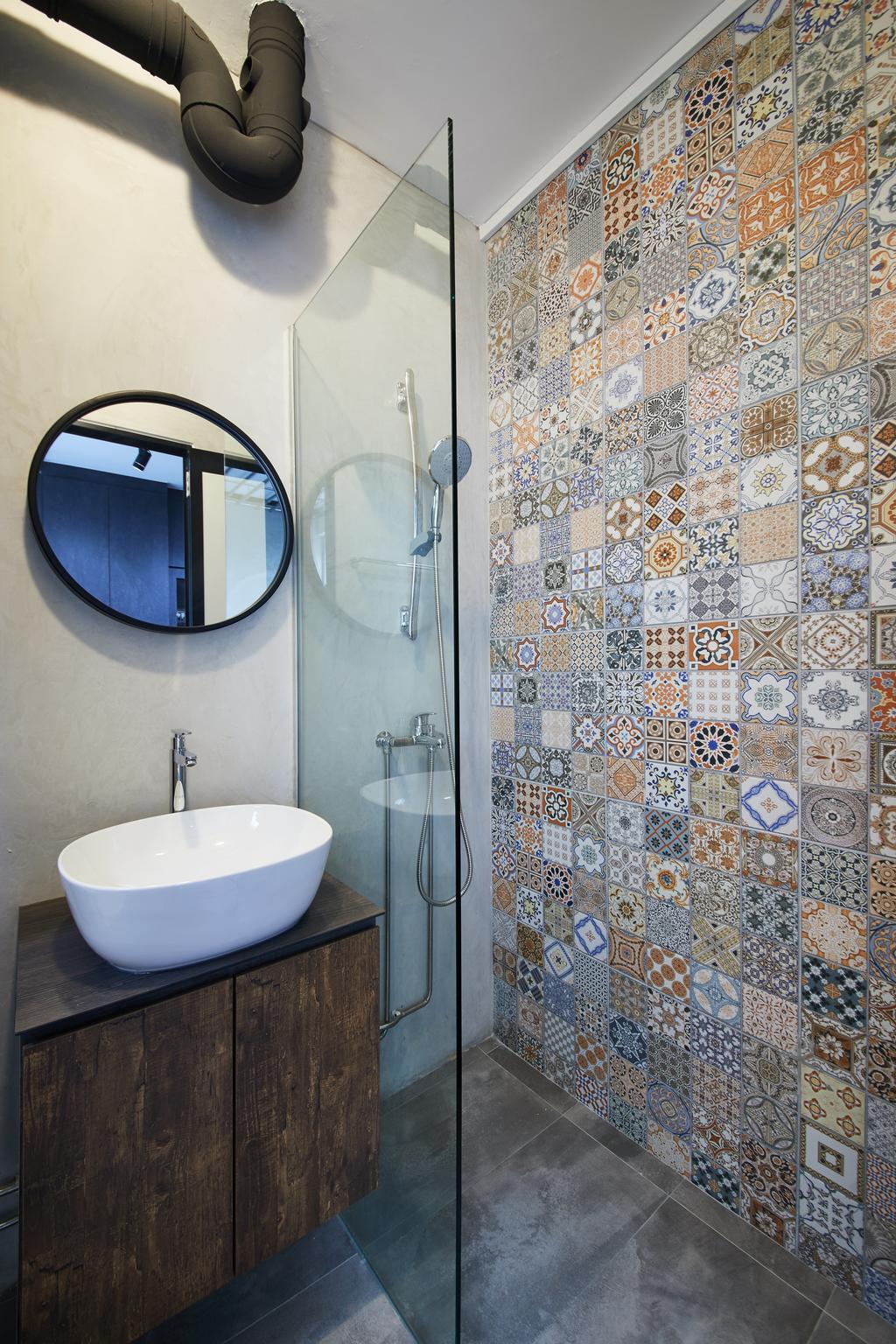 Industrial, HDB, Bathroom, Pasir Ris, Interior Designer, The Local INN.terior 新家室, Contemporary