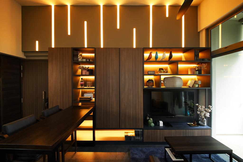 Contemporary, Condo, Living Room, Rivertrees Residences, Interior Designer, The Local INN.terior 新家室