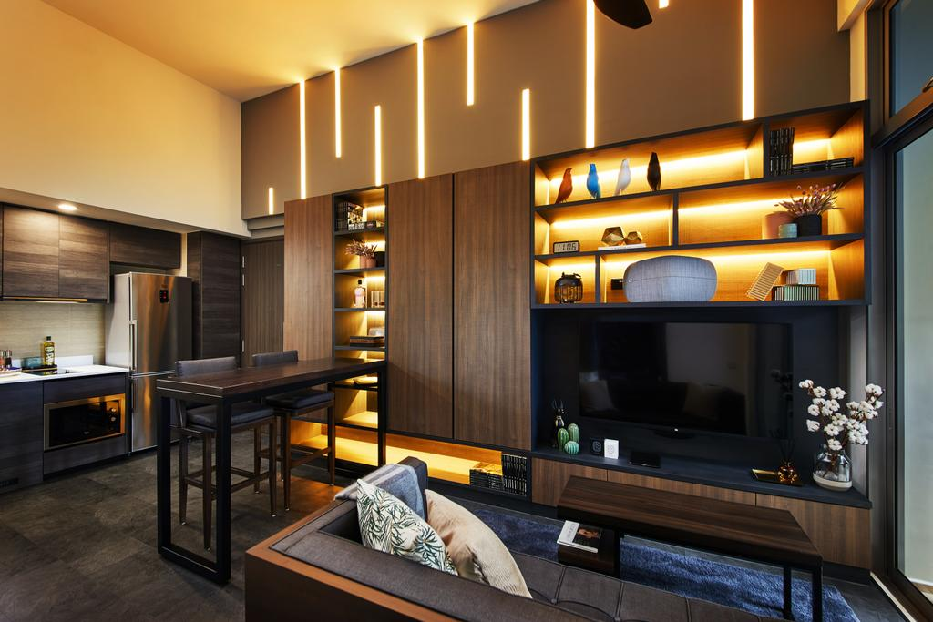 Contemporary, Condo, Living Room, Rivertrees Residences, Interior Designer, The Local INN.terior 新家室