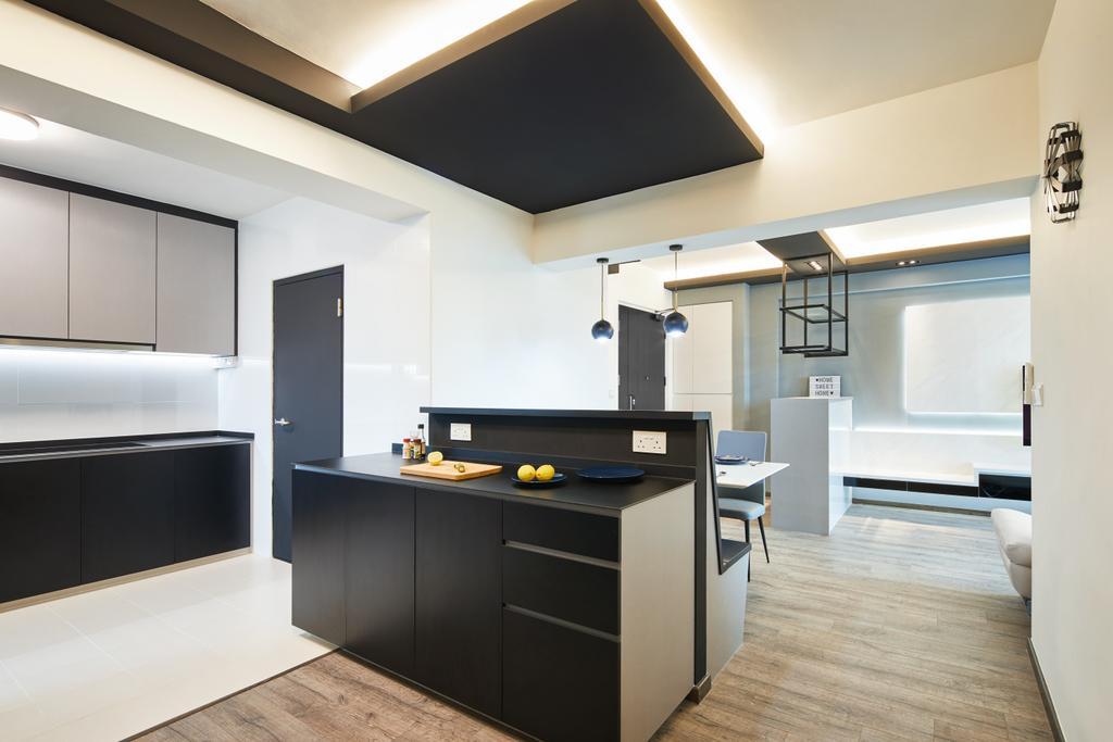 Contemporary, HDB, Kitchen, Toa Payoh, Interior Designer, The Local INN.terior 新家室
