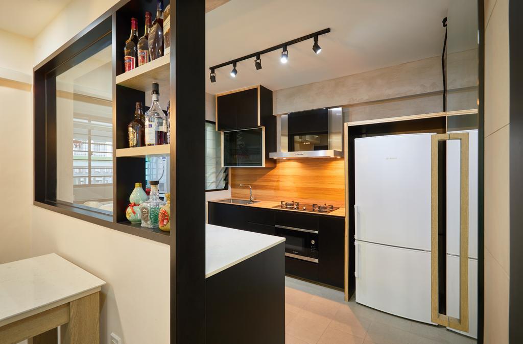 Contemporary, HDB, Kitchen, Yishun, Interior Designer, The Local INN.terior 新家室