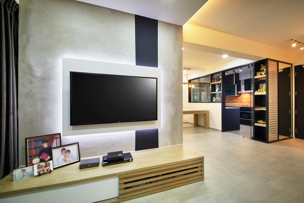Contemporary, HDB, Living Room, Yishun, Interior Designer, The Local INN.terior 新家室