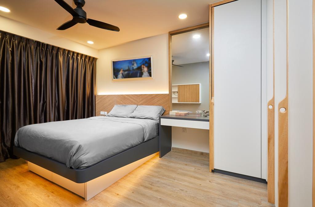 Contemporary, HDB, Bedroom, Yishun, Interior Designer, The Local INN.terior 新家室