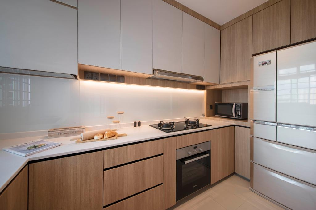 Modern, HDB, Kitchen, Clementi Avenue 3, Interior Designer, KDOT, Scandinavian, Appliance, Electrical Device, Oven, Microwave, Indoors, Interior Design, Room