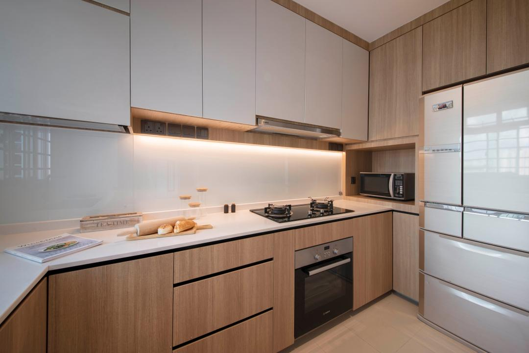 Clementi Avenue 3, KDOT, Modern, Scandinavian, Kitchen, HDB, Appliance, Electrical Device, Oven, Microwave, Indoors, Interior Design, Room
