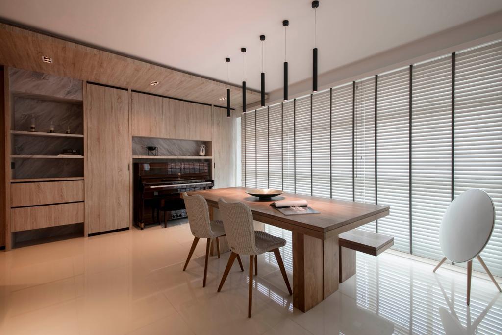 Modern, HDB, Dining Room, Clementi Avenue 3, Interior Designer, KDOT, Scandinavian, Chair, Furniture, Dining Table, Table, Indoors, Interior Design, Room