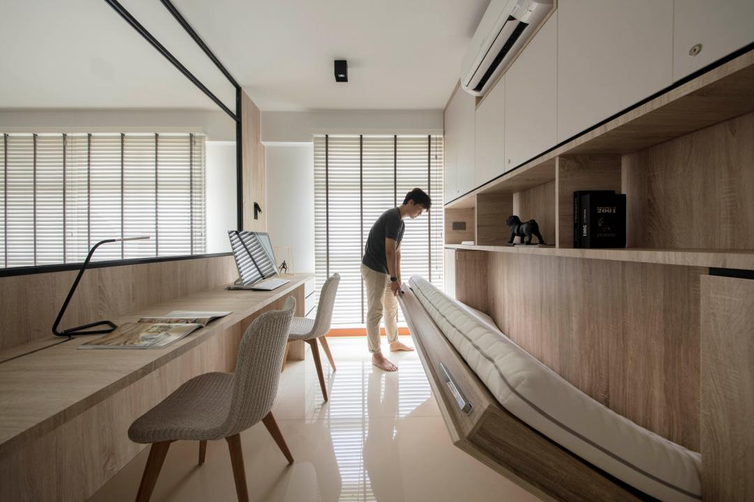Clementi Avenue 3, KDOT, Modern, Scandinavian, Study, HDB, Chair, Furniture, Plywood, Wood, Indoors, Interior Design
