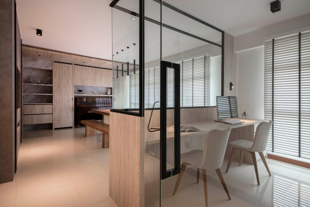 Modern, HDB, Clementi Avenue 3, Interior Designer, KDOT, Scandinavian, Chair, Furniture, Dining Table, Table