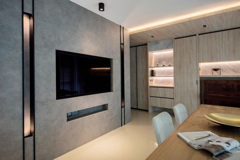 Modern, HDB, Living Room, Clementi Avenue 3, Interior Designer, KDOT, Scandinavian, Indoors, Interior Design