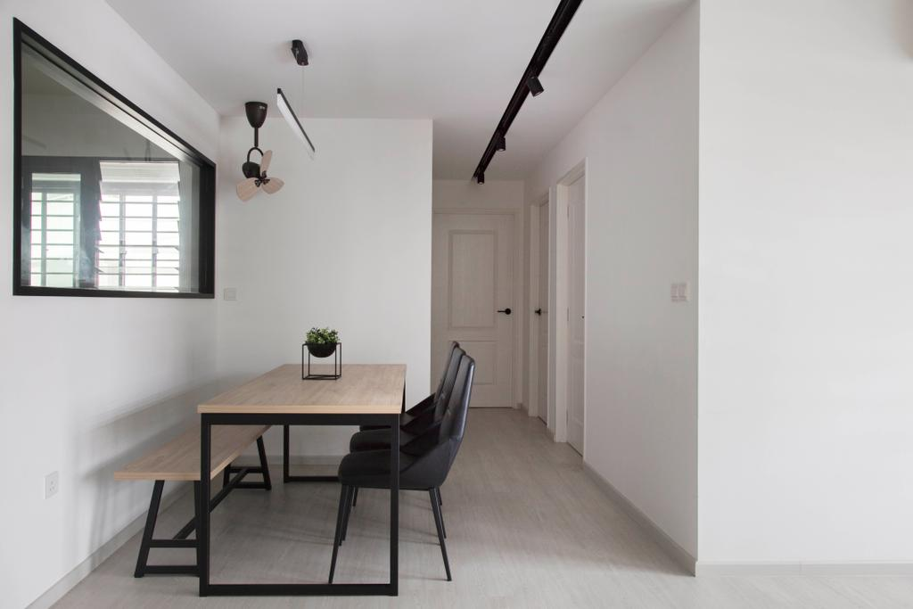 Scandinavian, HDB, Dining Room, Yishun Avenue 4, Interior Designer, KDOT, Dining Table, Furniture, Table
