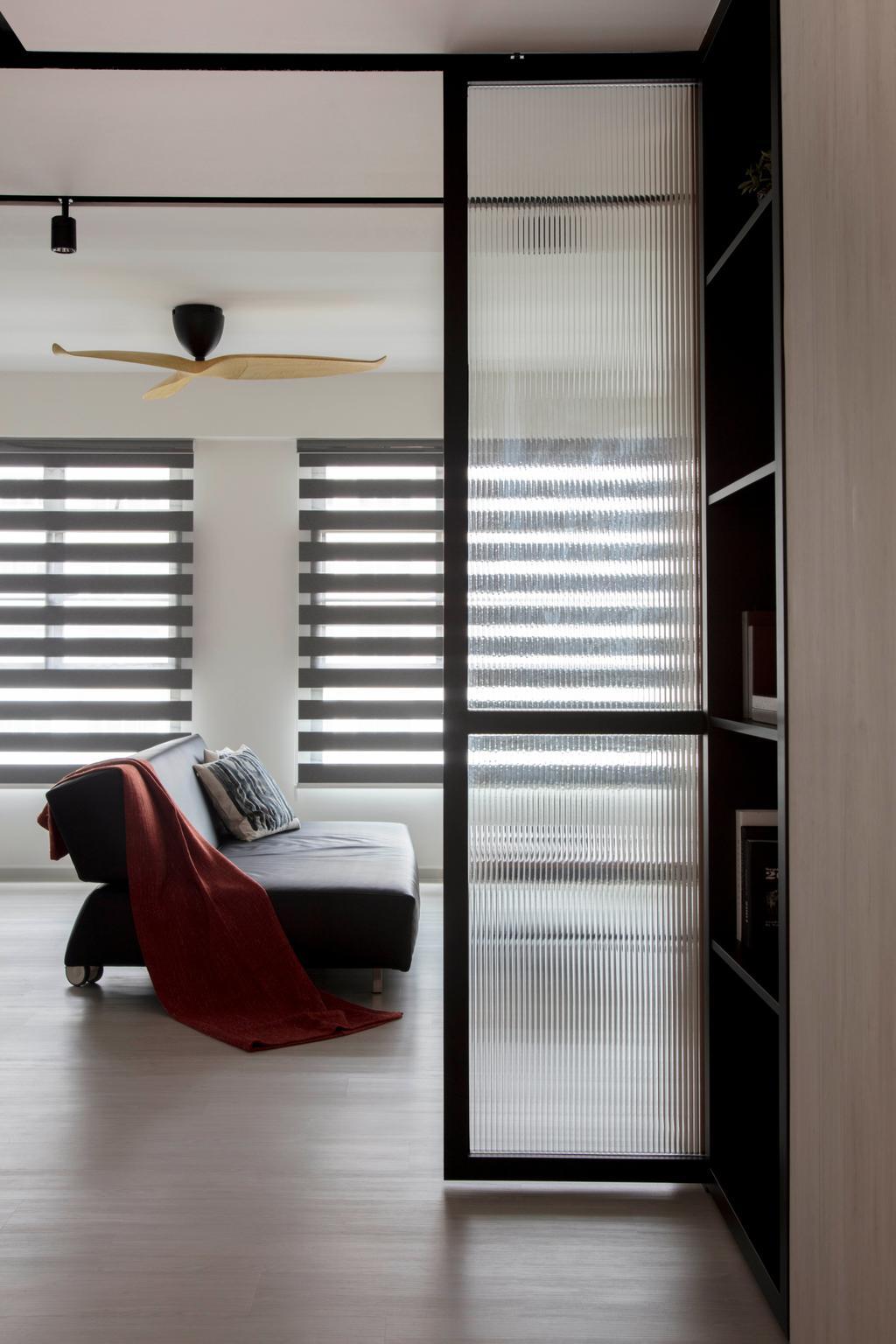Scandinavian, HDB, Living Room, Yishun Avenue 4, Interior Designer, KDOT, Chair, Furniture