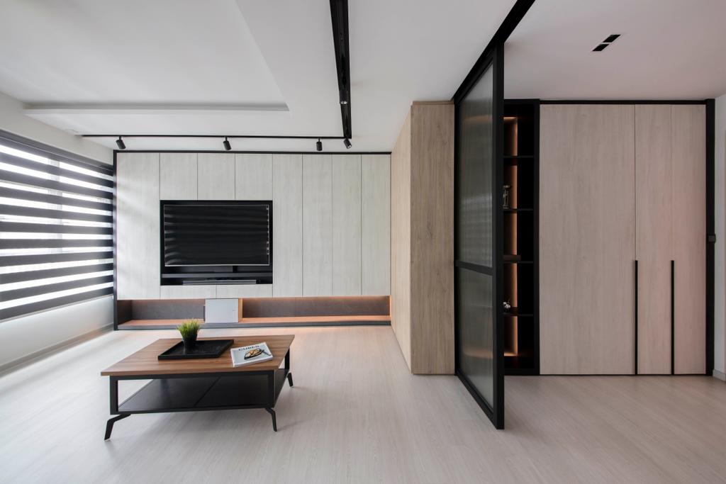 Scandinavian, HDB, Living Room, Yishun Avenue 4, Interior Designer, KDOT, Coffee Table, Furniture, Table, Building, Housing, Indoors, Loft, Interior Design
