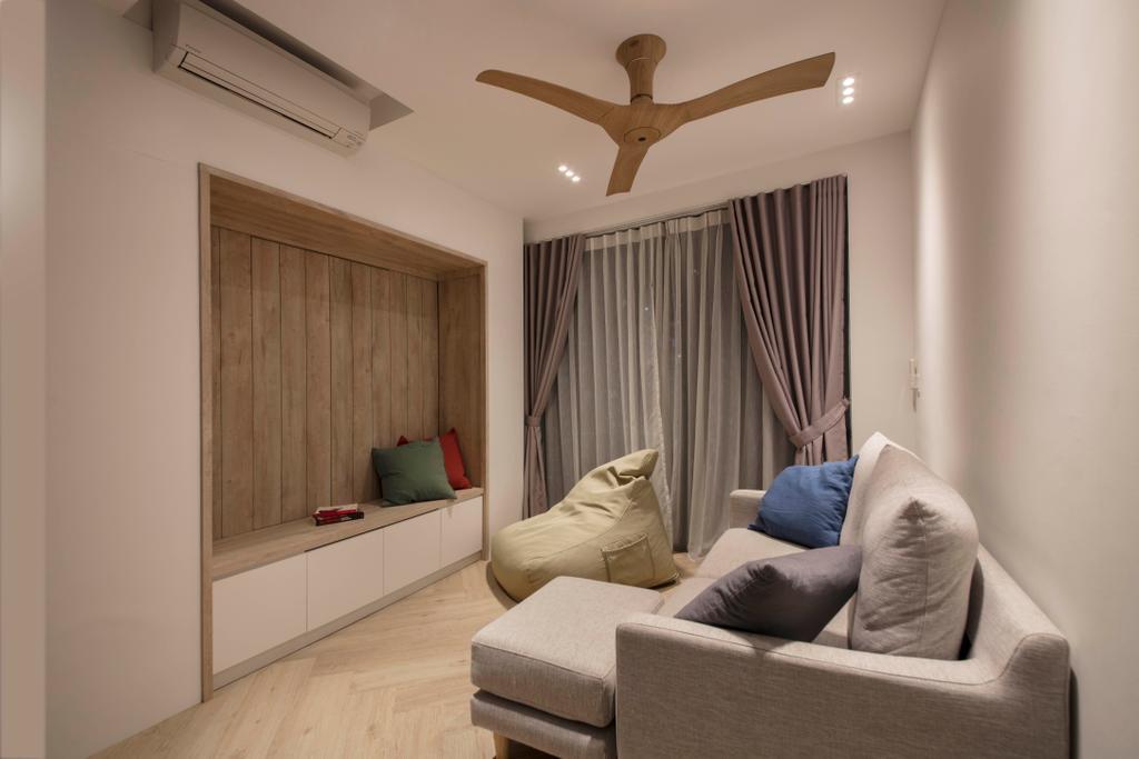 Scandinavian, Condo, Living Room, The Topiary, Interior Designer, Edge Interior, Couch, Furniture, Indoors, Interior Design