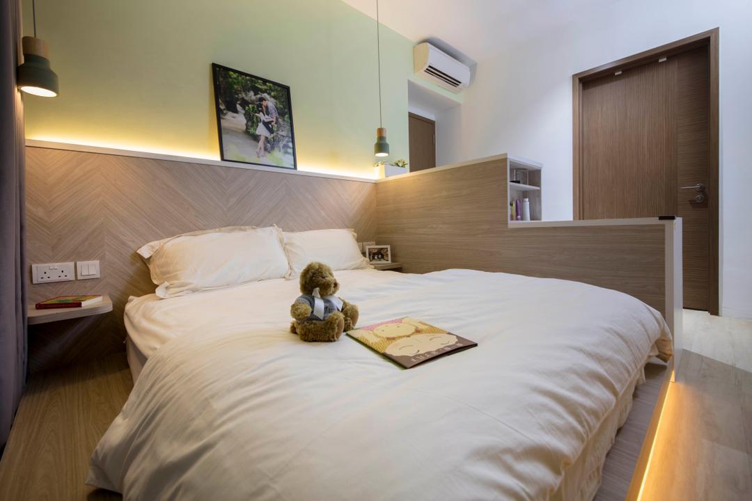 The Topiary, Edge Interior, Scandinavian, Bedroom, Condo, Bed, Furniture