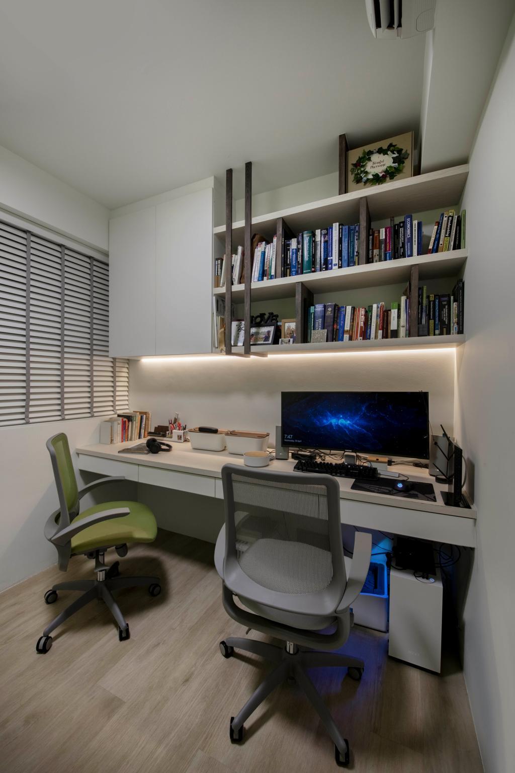 Scandinavian, Condo, Study, The Topiary, Interior Designer, Edge Interior, Chair, Furniture, Desk, Table, Electronics, Lcd Screen, Monitor, Screen