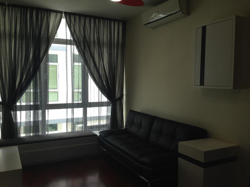 Modern, Landed, Kinrara Residence, Puchong, Interior Designer, Trivia Group Sdn. Bhd., Curtain, Home Decor, Couch, Furniture, Bedroom, Indoors, Interior Design, Room