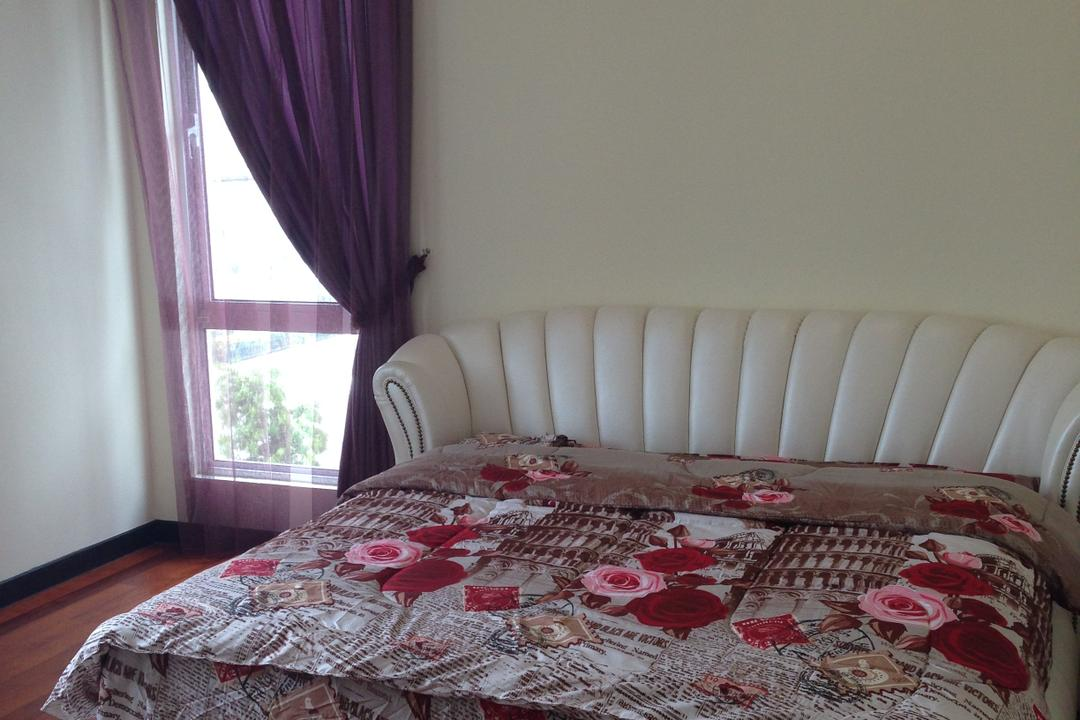 Kinrara Residence, Puchong, Trivia Group Sdn. Bhd., Modern, Landed, Bed, Furniture, Bedroom, Indoors, Interior Design, Room, Couch