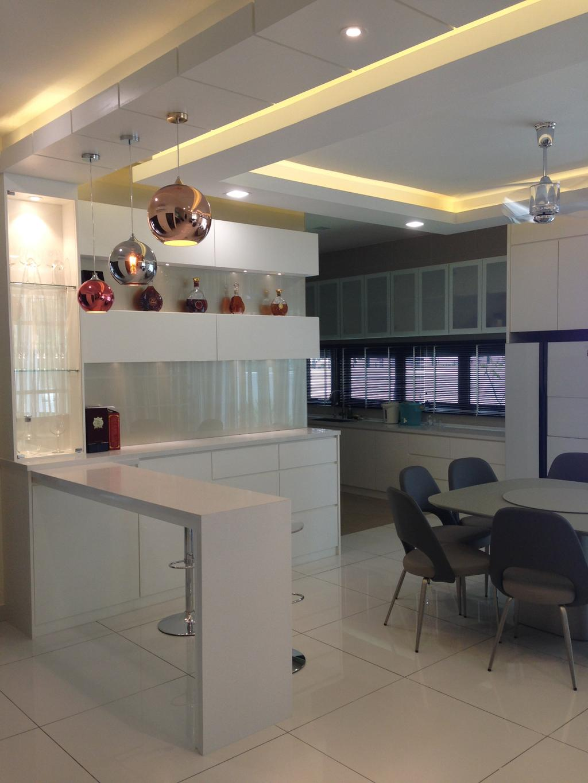 Modern, Landed, Kinrara Residence, Puchong, Interior Designer, Trivia Group Sdn. Bhd., Chair, Furniture, Couch