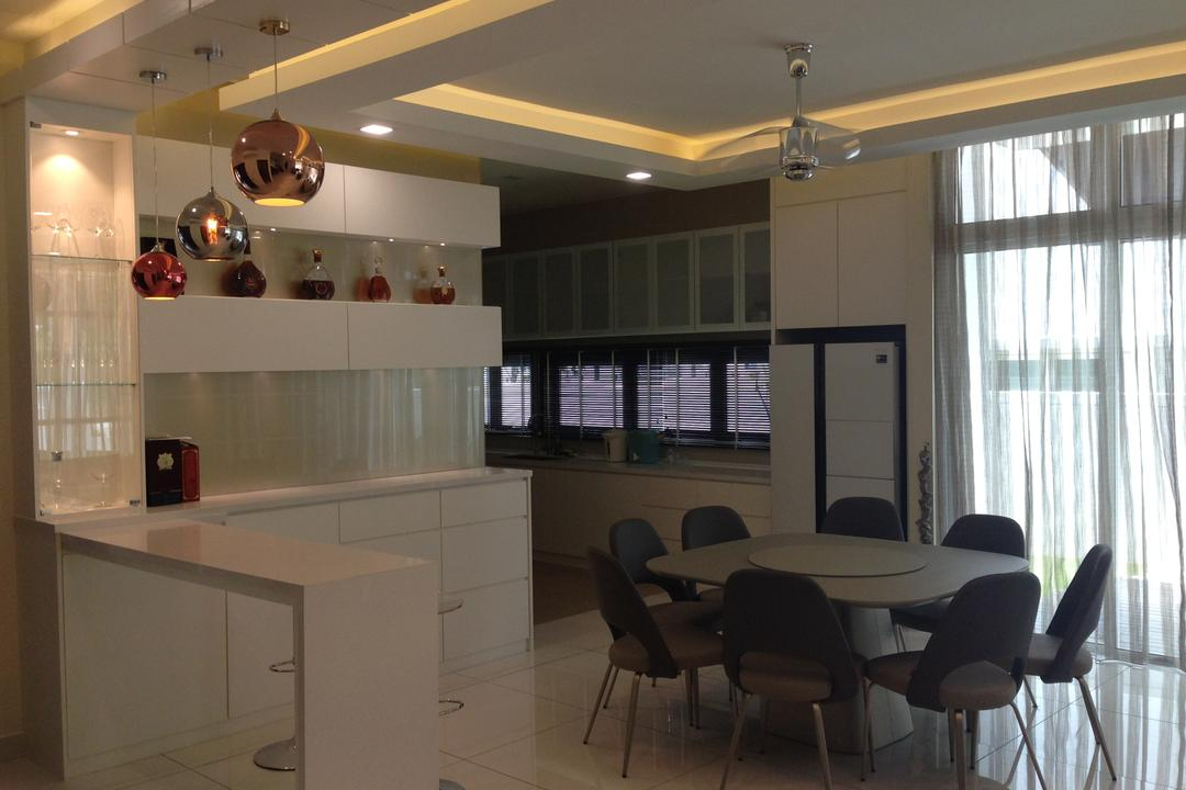 Kinrara Residence, Puchong, Trivia Group Sdn. Bhd., Modern, Landed, Chair, Furniture, Couch, Dining Room, Indoors, Interior Design, Room