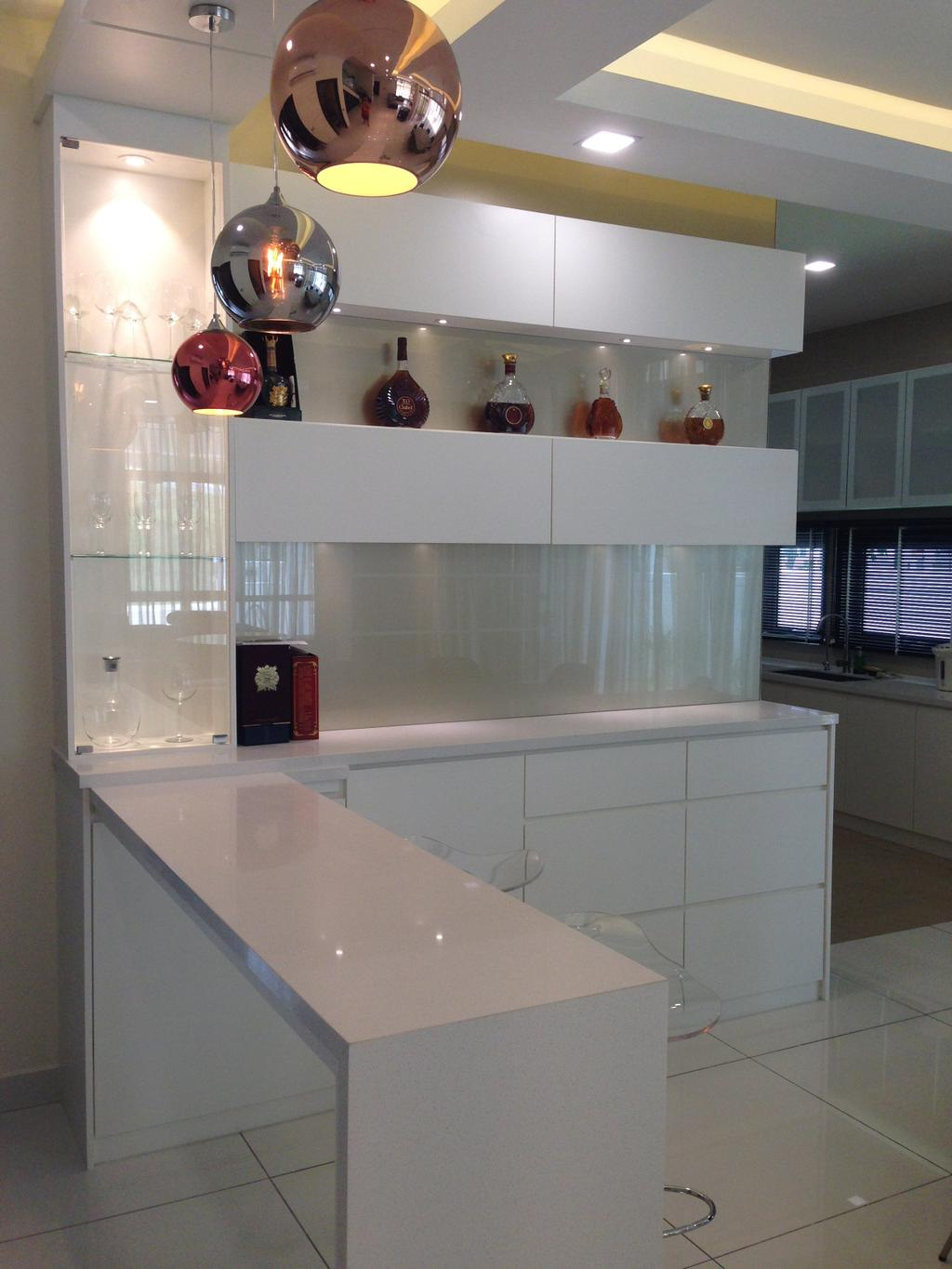 Modern, Landed, Kinrara Residence, Puchong, Interior Designer, Trivia Group Sdn. Bhd., Indoors, Interior Design, Kitchen, Room
